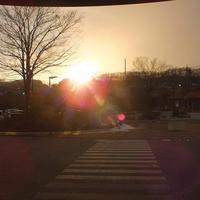 冬空の夕日