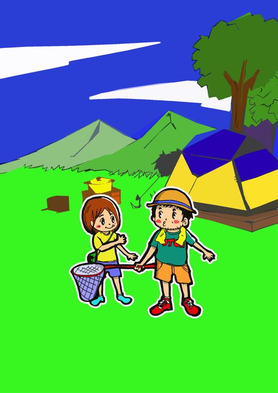 おやじと子のキャンプ