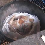 No.104 野外炊さんオプション 丸鶏の塩釜焼き(ダッチオーブン)