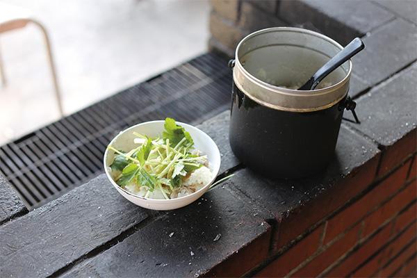 No.102 野外炊さんオプション 飯ごうで和風カオマンガイ