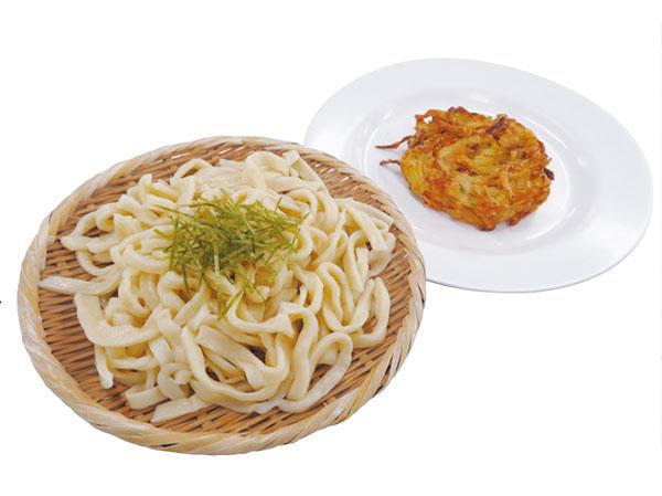 No.30 つるつるざるうどん(野菜かきあげ付き)